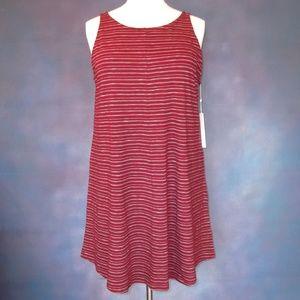 NWT Caslon Burgundy Tie Back Tank Dress Size 2X